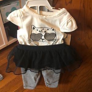 carters two piece cat and pant onesie set